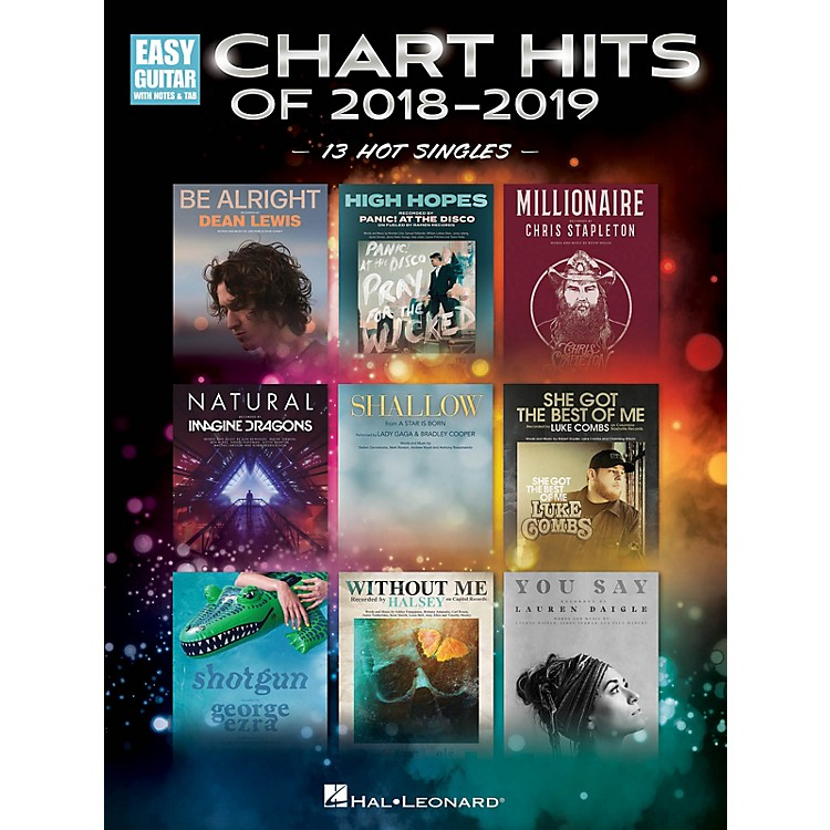 Hal Leonard Chart Hits of 2018-2019 (13 Hot Singles) Easy Guitar Tab Songbook