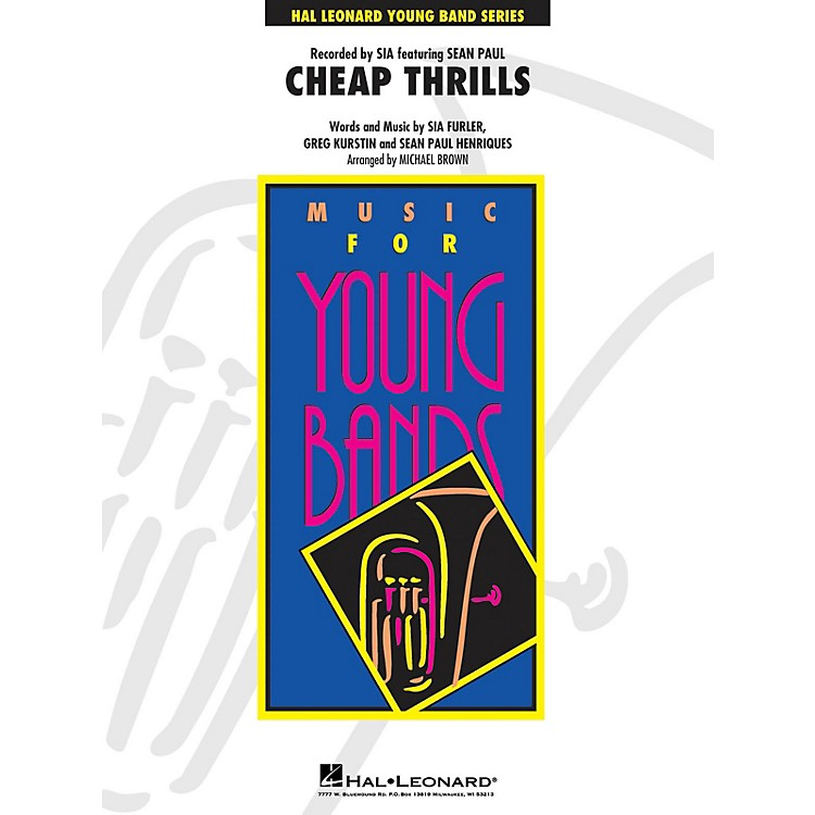 Hal LeonardCheap Thrills - Young Concert Band Level 3 by Michael Brown