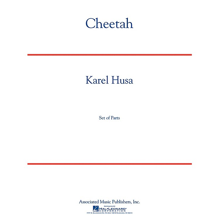 G. Schirmer Cheetah Concert Band Level 5 Composed by Karel Husa