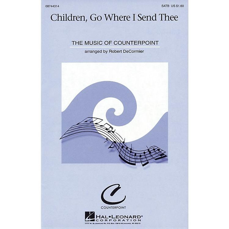Hal LeonardChildren, Go Where I Send Thee SATB arranged by Robert DeCormier