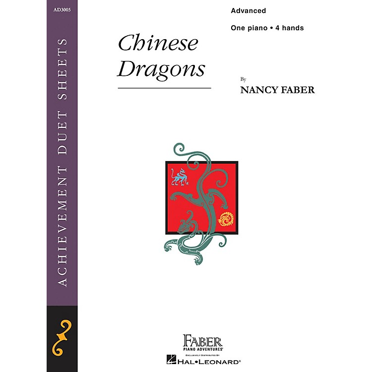 Faber Piano Adventures Chinese Dragons (Advanced Piano Duet) Faber Piano Adventures® Series Book by Nancy Faber