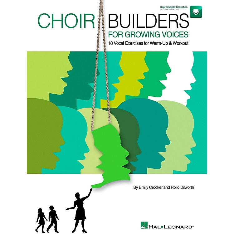 Hal LeonardChoir Builders For Growing Voices - 18 Vocal Exercises for Warm-up & Workout Book/CD