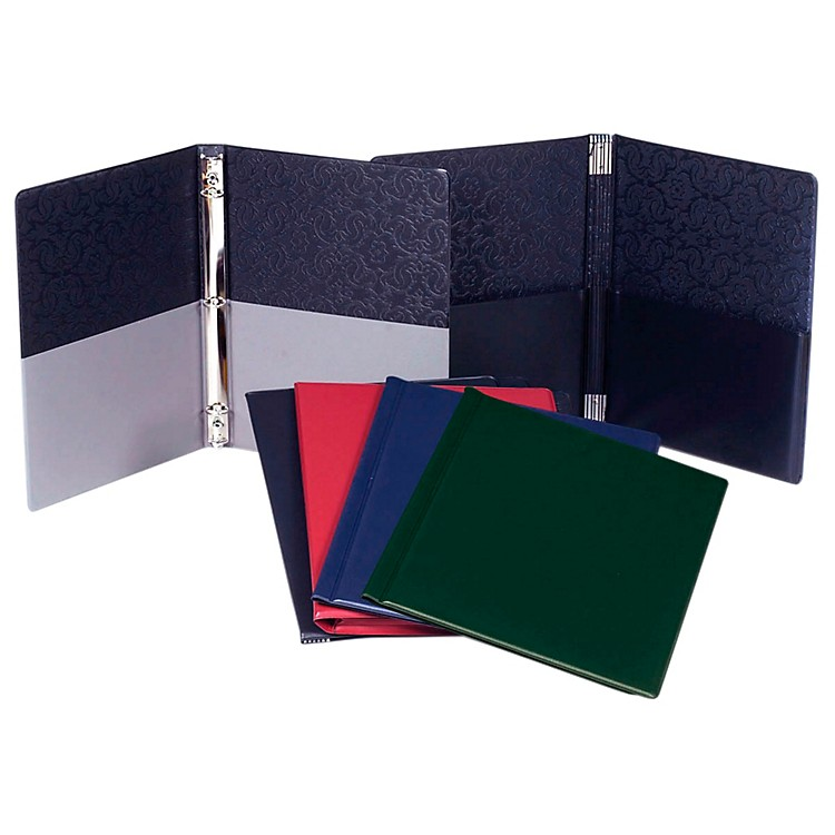 Marlo Plastics Choral Folder 9-1/4 x 12 with 7 Elastic Stays and 2 Expanded Horizontal Pockets Red