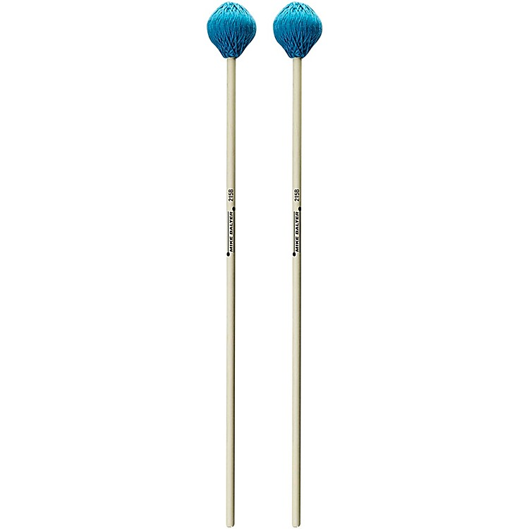 Mike Balter Chorale Series Birch Handle Marimba Mallets Aqua Microfiber Soft