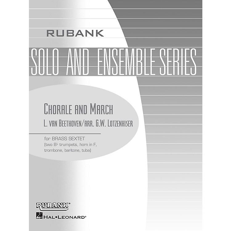 Rubank PublicationsChorale and March (Brass Sextet - Grade 3) Rubank Solo/Ensemble Sheet Series