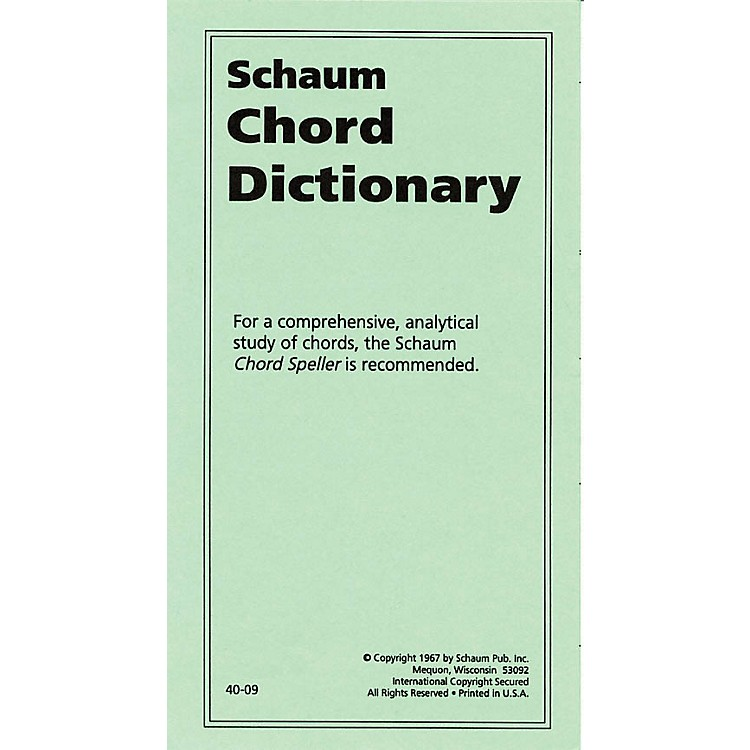 SCHAUMChord Dictionary Educational Piano Series Softcover