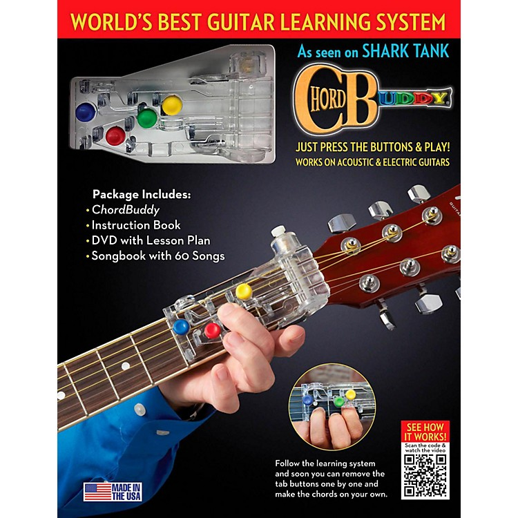 Hal Leonard ChordBuddy Learning System Revised Edition - Includes Color-Coded Songbook and Updated DVD