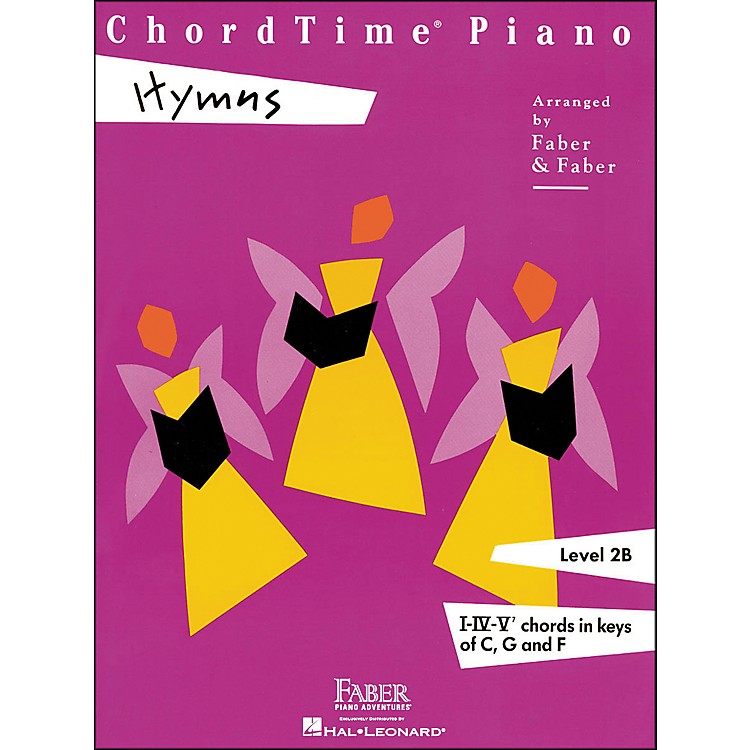 Faber Piano AdventuresChordtime Piano Hymns Book Level 2B Chords In Keys C, G, And F - Faber Piano