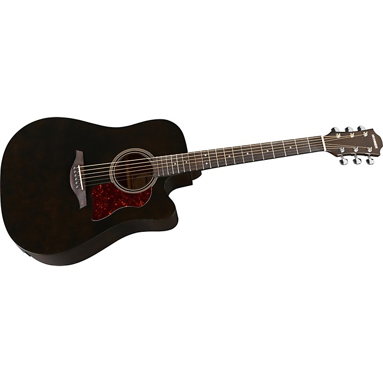 HohnerChorus Series Mahogany Acoustic-Electric GuitarTransparent Black