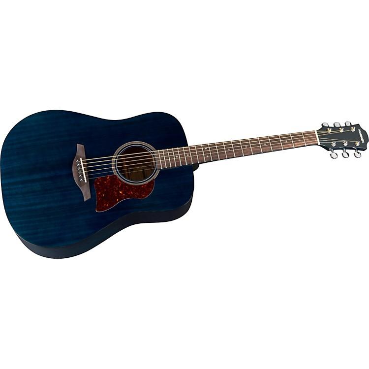 HohnerChorus Series Mahogany Acoustic GuitarTransparent Blue