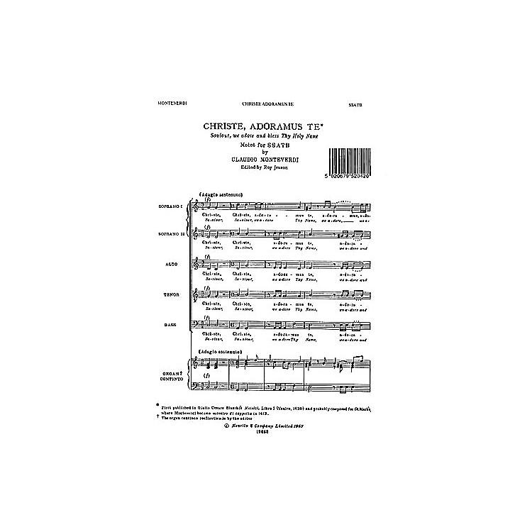 NovelloChriste Adoramus SSATB Composed by Claudio Monteverdi Edited by Roy Jesson