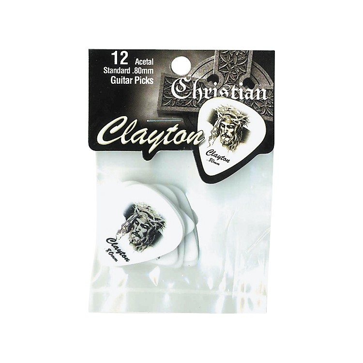Clayton Christian Standard Guitar Picks 1 Dozen .80 mm