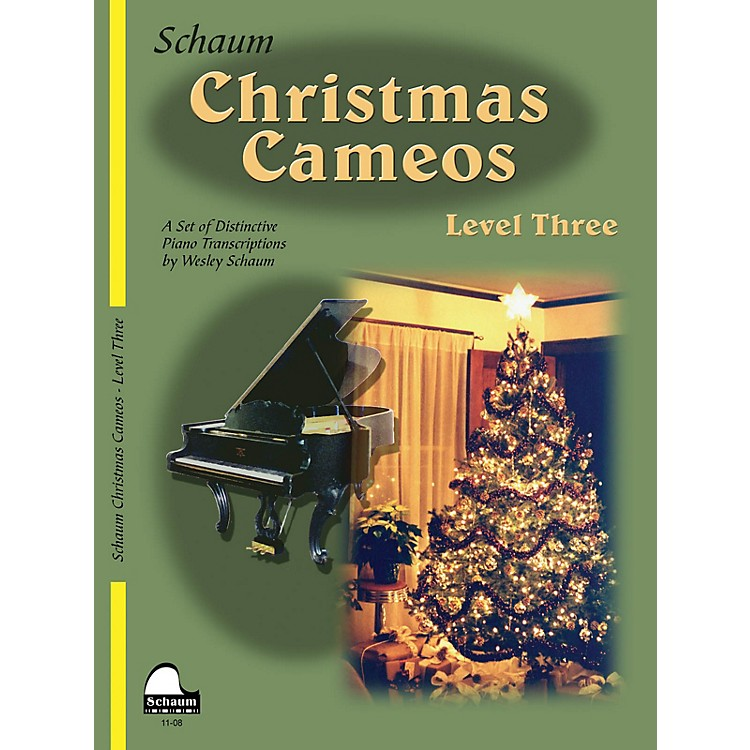 SCHAUMChristmas Cameos (Level 3 Early Inter Level) Educational Piano Book