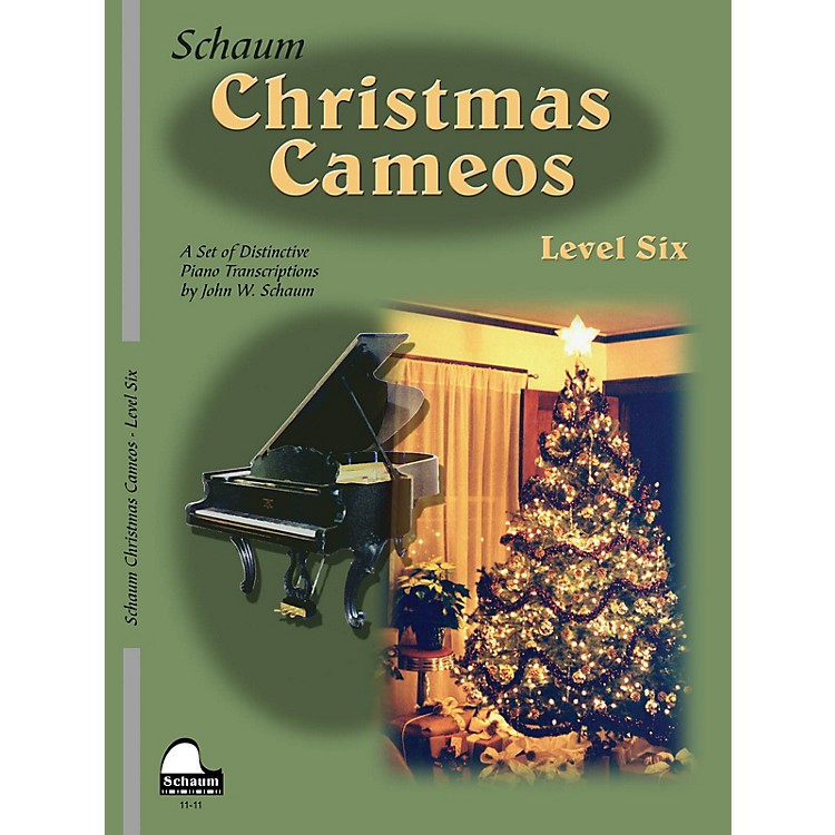 SCHAUM Christmas Cameos (Level 6 Early Advanced Level) Educational Piano Book