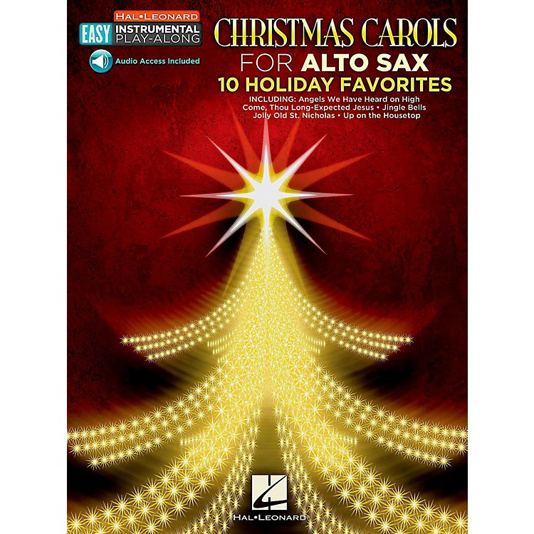 Hal LeonardChristmas Carols - Alto Sax - Easy Instrumental Play-Along (Audio Online)