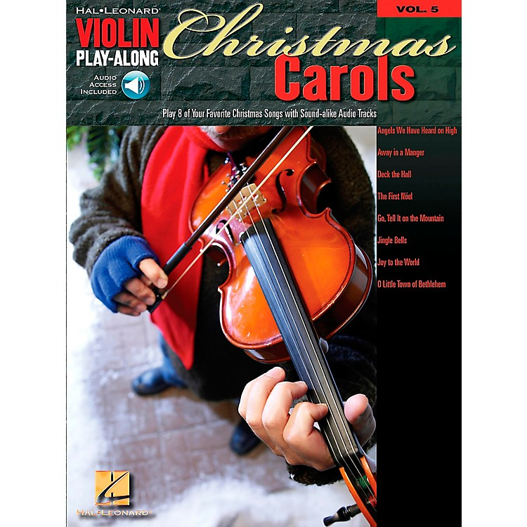 Hal LeonardChristmas Carols Violin Play-Along Volume 5 Book/CD