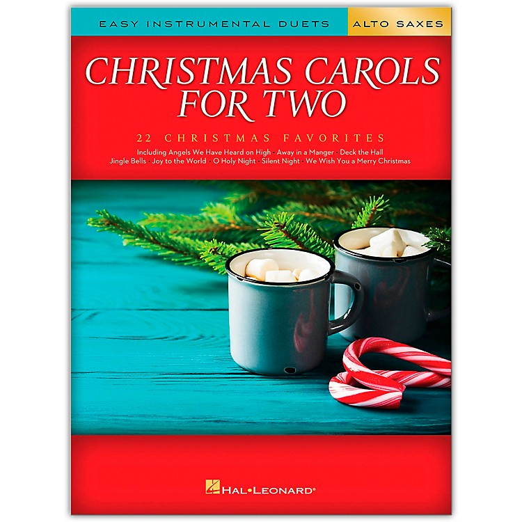 Hal Leonard Christmas Carols for Two Alto Saxes (Easy Instrumental Duets) Songbook