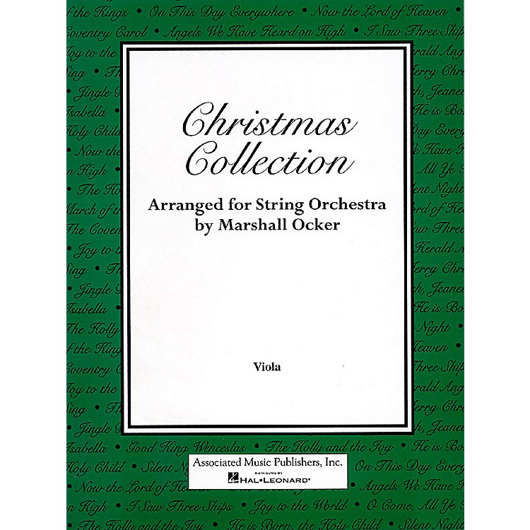 AssociatedChristmas Collection (Viola Part) Orchestra Series Composed by Various