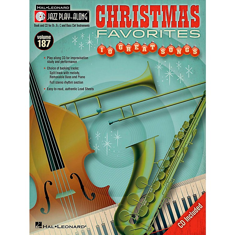 Hal LeonardChristmas Favorites - Jazz Play-Along Volume 187 (Book/CD)