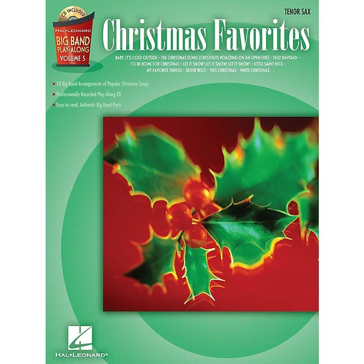 Hal LeonardChristmas Favorites - Tenor Sax Big Band Play-Along Series Book with CD