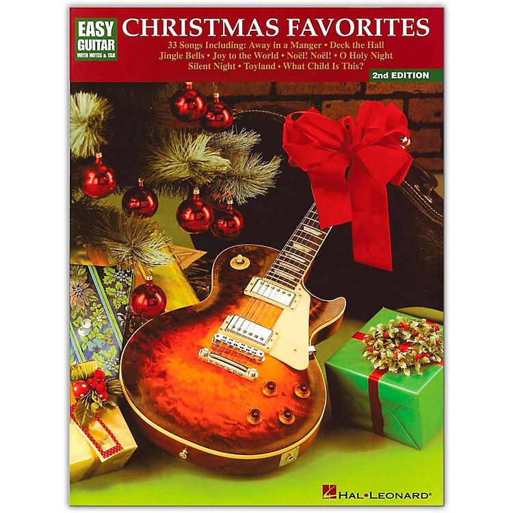 Hal LeonardChristmas Favorites 2nd Edition Easy Guitar Tab Songbook