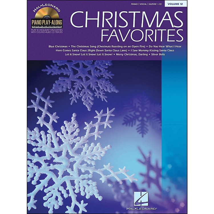 Hal LeonardChristmas Favorites Book/CD Volume 12 Piano Play-Along arranged for piano, vocal, and guitar (P/V/G)