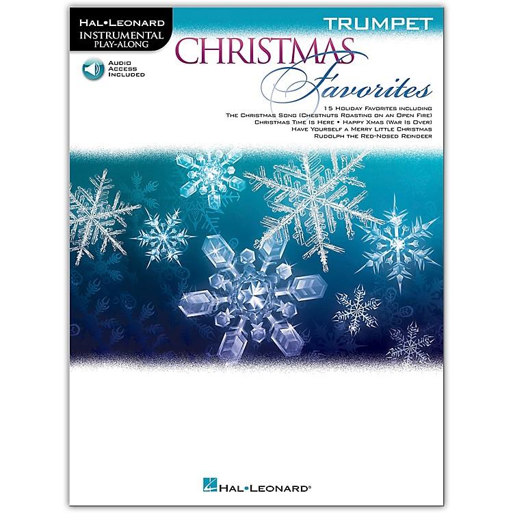Hal LeonardChristmas Favorites for Trumpet - Instrumental Play Along Book/Audio Online
