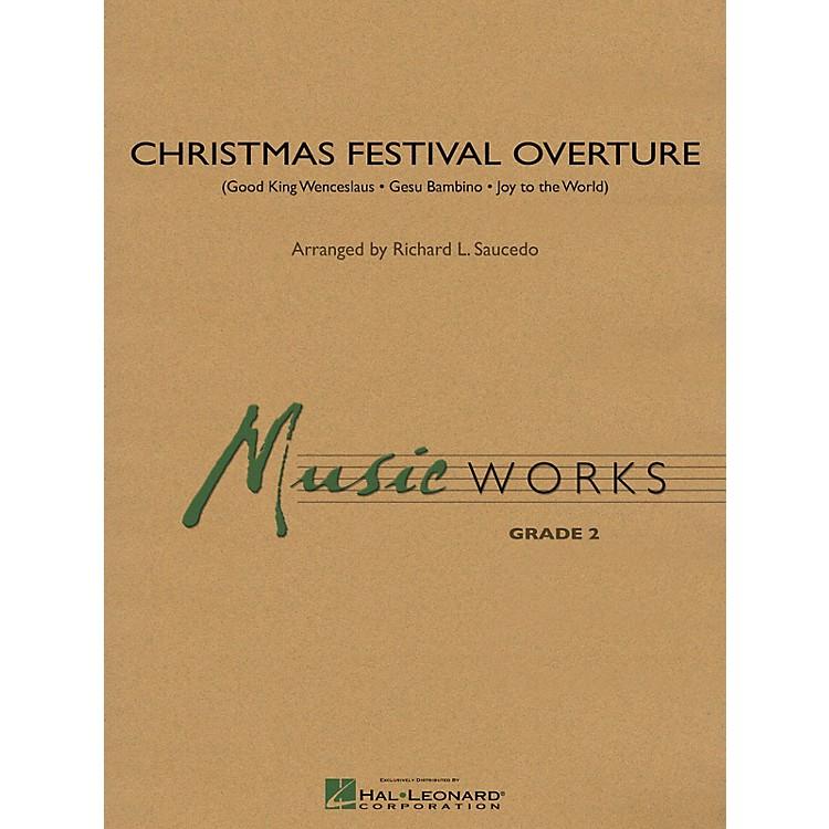 Hal LeonardChristmas Festival Overture Concert Band Level 2 Arranged by Richard L. Saucedo