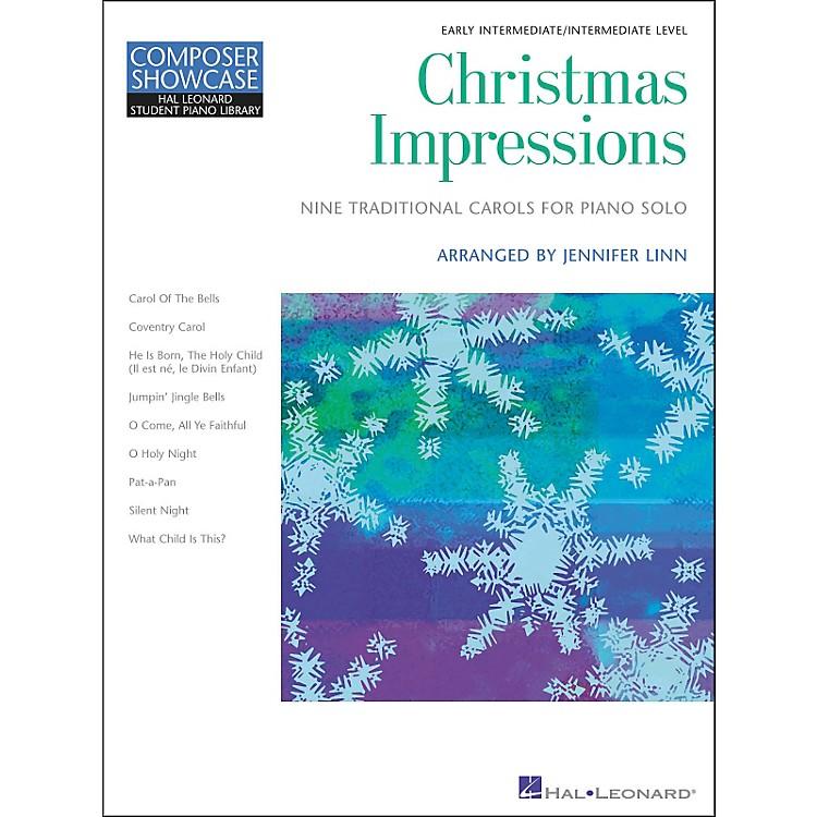 Hal LeonardChristmas Impressions Early Intermediate Level Hal Leonard Student Piano Library by Jennifer Linn