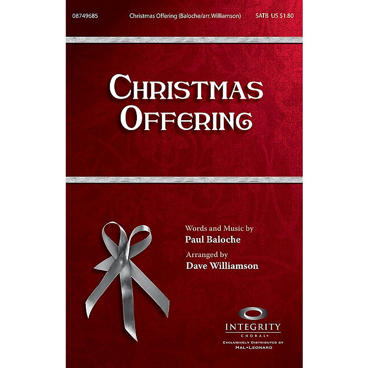 Integrity ChoralChristmas Offering CD ACCOMP Arranged by Dave Williamson