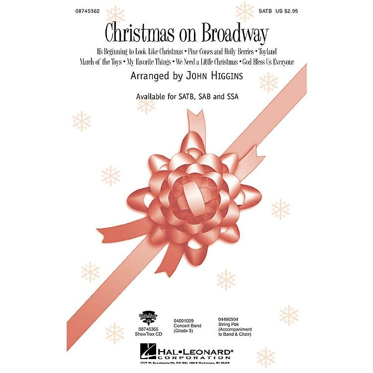 Hal LeonardChristmas On Broadway (Medley) SAB Arranged by John Higgins