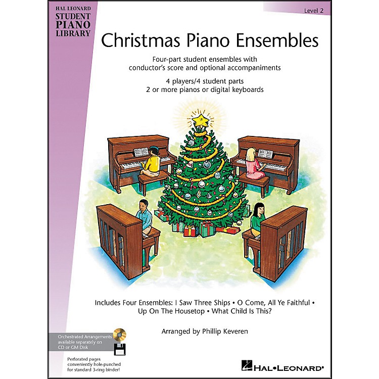 Hal Leonard Christmas Piano Ensembles Level 2 Hal Leonard Student Piano Library by Phillip Keveren