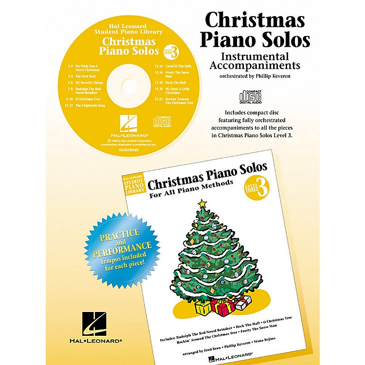 Hal LeonardChristmas Piano Solos - Level 3 - CD Piano Library Series CD