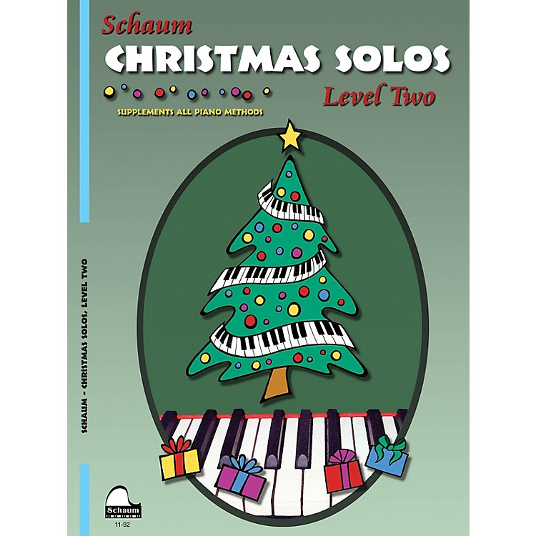 SCHAUMChristmas Solos (Level 2 Upper Elem Level) Educational Piano Book