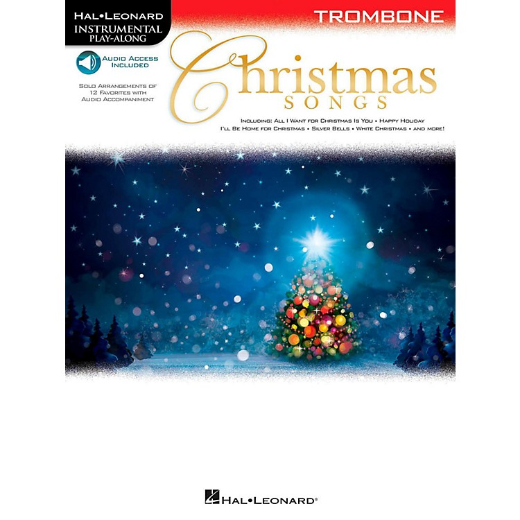 Hal Leonard Christmas Songs For Trombone - Instrumental Play-Along (Book/Audio On-Line)
