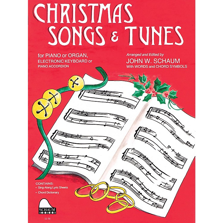 SCHAUMChristmas Songs and Tunes (Level 4 Inter Level) Educational Piano Book
