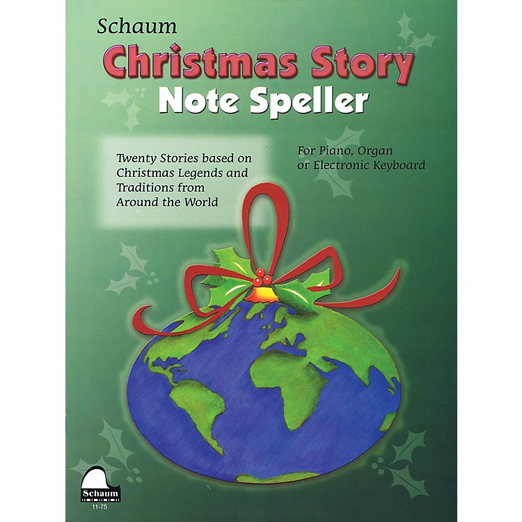 SCHAUMChristmas Story Note Speller Educational Piano Book by Wesley Schaum (Level Elem)