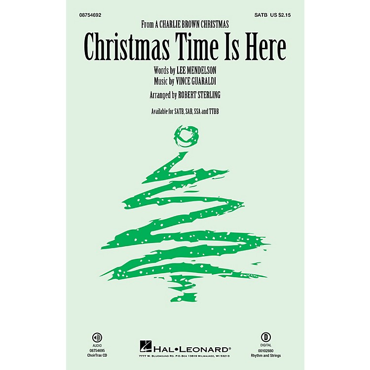 Hal LeonardChristmas Time Is Here SATB arranged by Robert Sterling