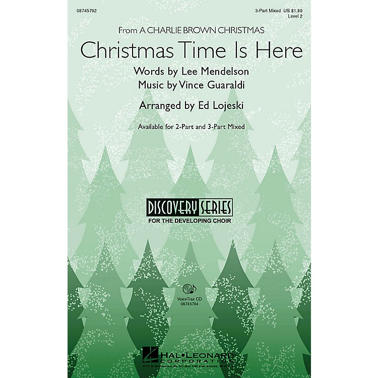 Hal Leonard Christmas Time Is Here VoiceTrax CD Arranged by Ed Lojeski