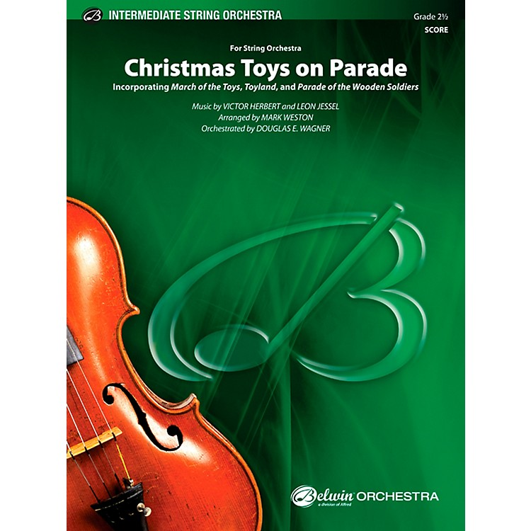 AlfredChristmas Toys on Parade String Orchestra Grade 2.5 Set