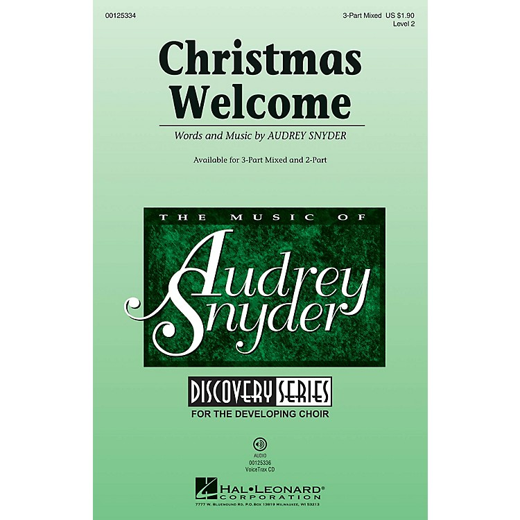 Hal LeonardChristmas Welcome (Discovery Level 2) VoiceTrax CD Composed by Audrey Snyder