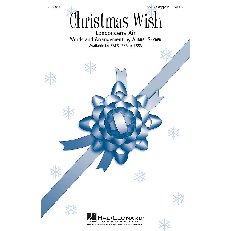 Hal LeonardChristmas Wish SSA Composed by Audrey Snyder