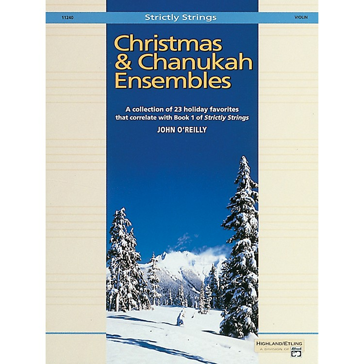 AlfredChristmas and Chanukah Ensembles Violin