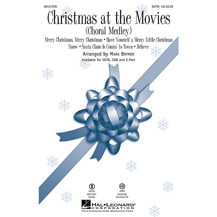 Hal LeonardChristmas at the Movies (Choral Medley) ShowTrax CD Arranged by Mark Brymer