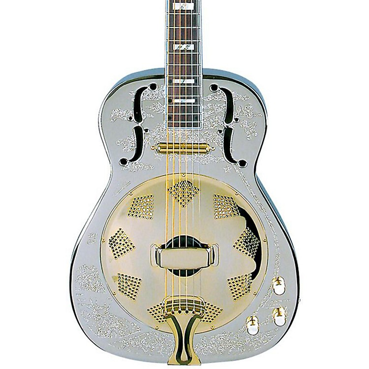Dean Chrome G Acoustic-Electric Resonator Guitar Chrome/Gold