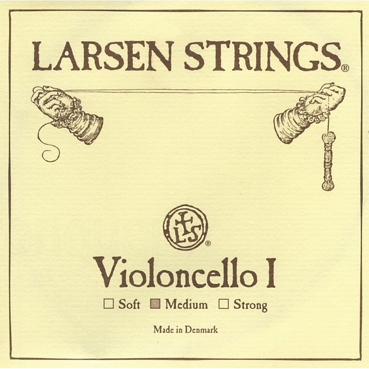 Larsen Strings Chromesteel Series Cello Strings G, Tungsten, Medium