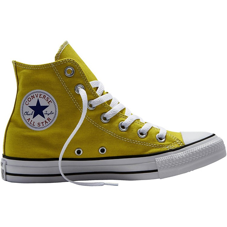 Converse Chuck Taylor All Star Hi Top Bitter Lemon Straw Yellow 7.5