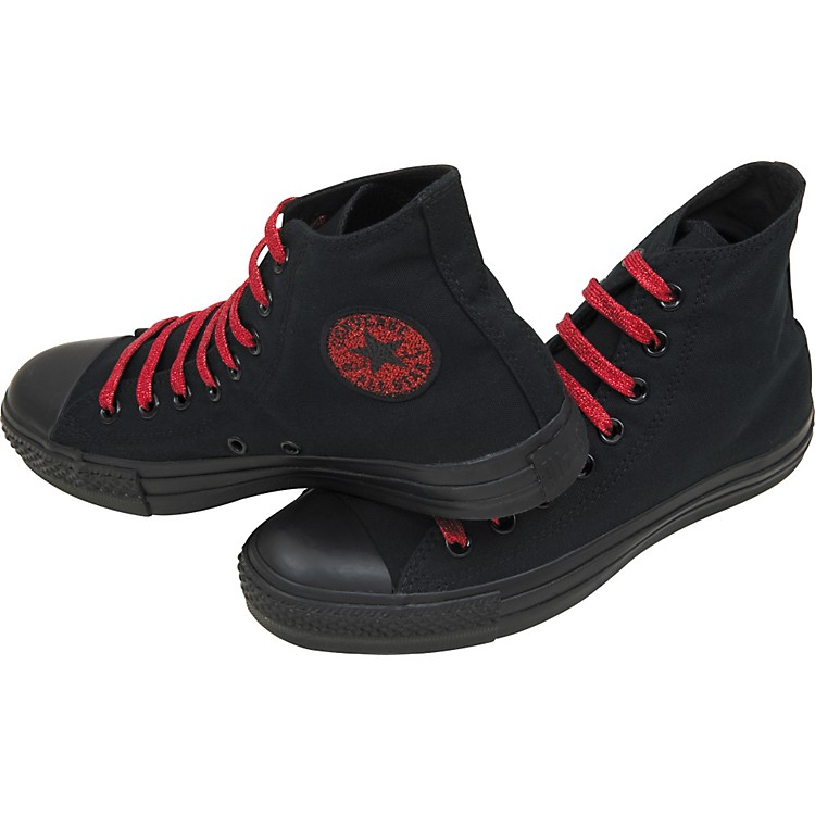 Converse Chuck Taylor All Star Metallic Hi-Tops Men's Size 9 Black/Red