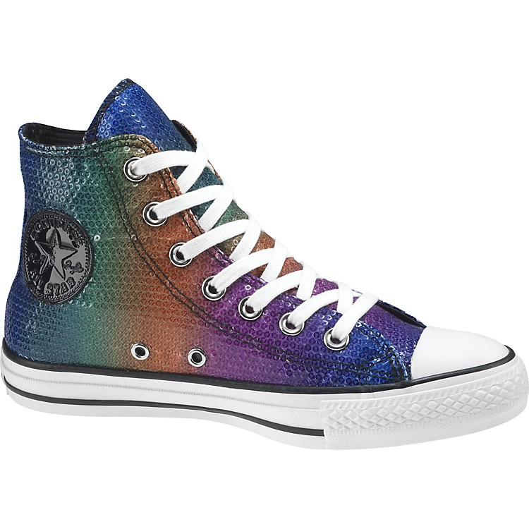 Converse Chuck Taylor All Star Sequins Hi-Top Sneakers (Rainbow) Size 10