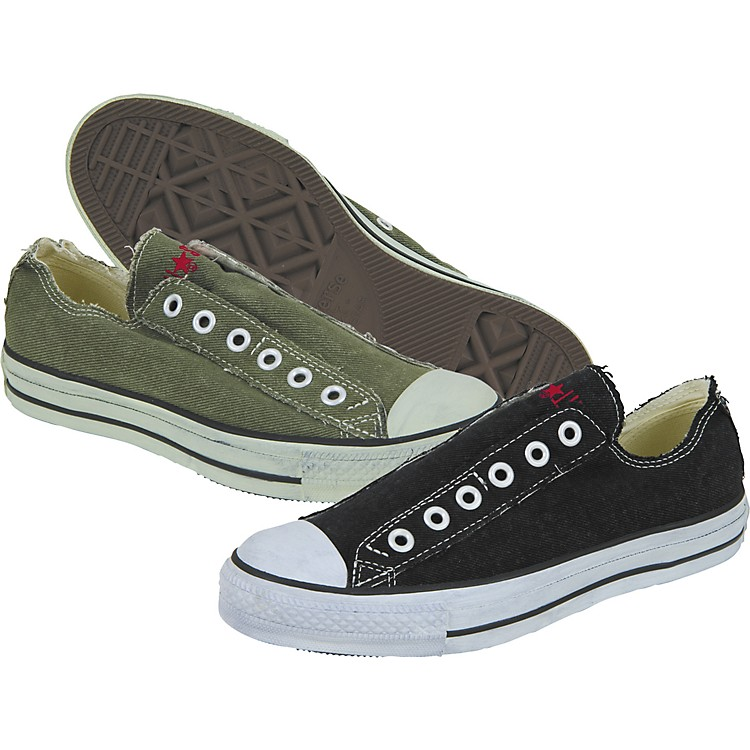 converse chuck taylor all star slip low denim slip on shoes music123. Black Bedroom Furniture Sets. Home Design Ideas